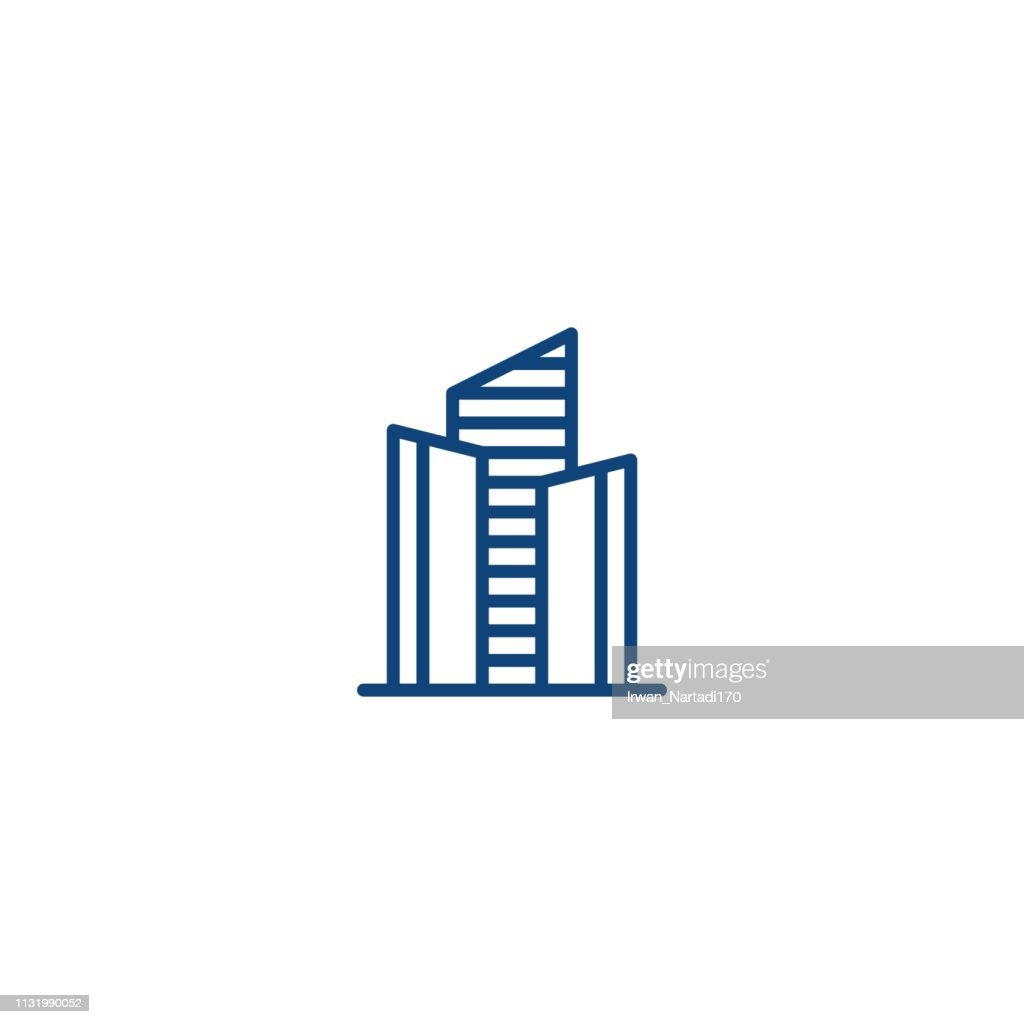 City building, real estate. Vector icon template