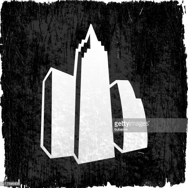 city buildings on royalty free vector background - wood stain stock illustrations, clip art, cartoons, & icons