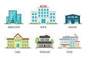 City buildings set 2