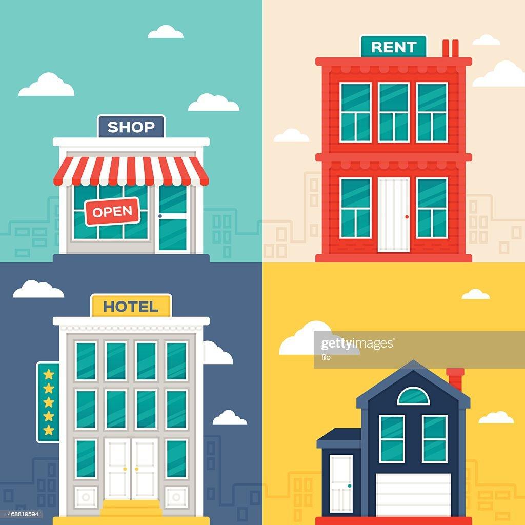 Edificios de la ciudad : Ilustración de stock