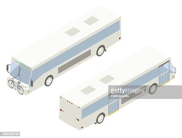 City Bus Isometric Illustration
