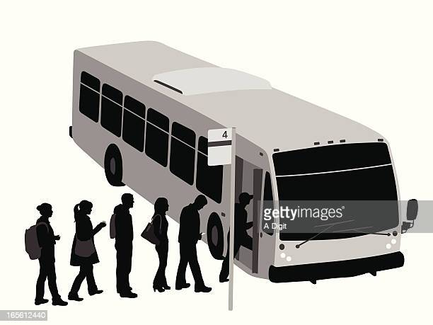 City Bus Vector Silhouette