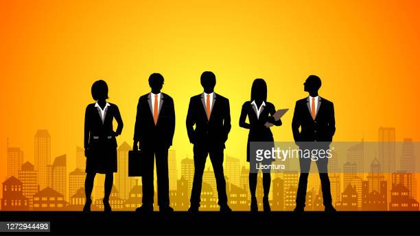 city business people - full suit stock illustrations