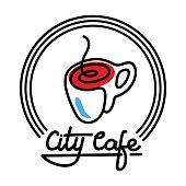 City Cafe Logo Template Design Vector illustration
