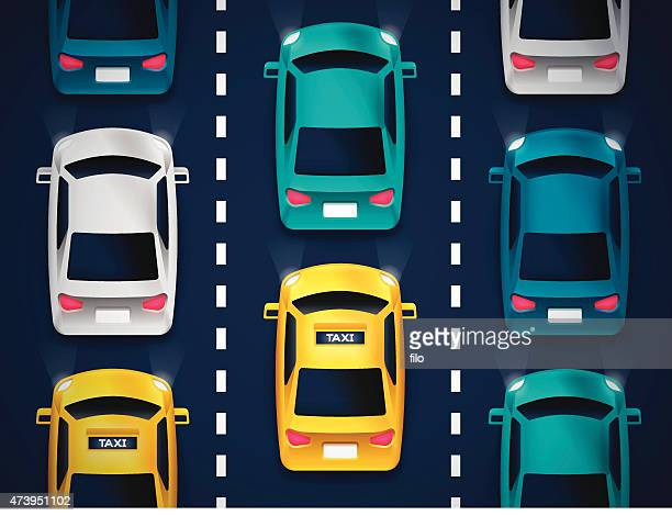 city cars and traffic - runaway vehicle stock illustrations, clip art, cartoons, & icons