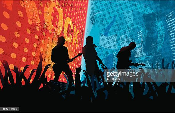 ilustrações, clipart, desenhos animados e ícones de cidade de concerto - performance