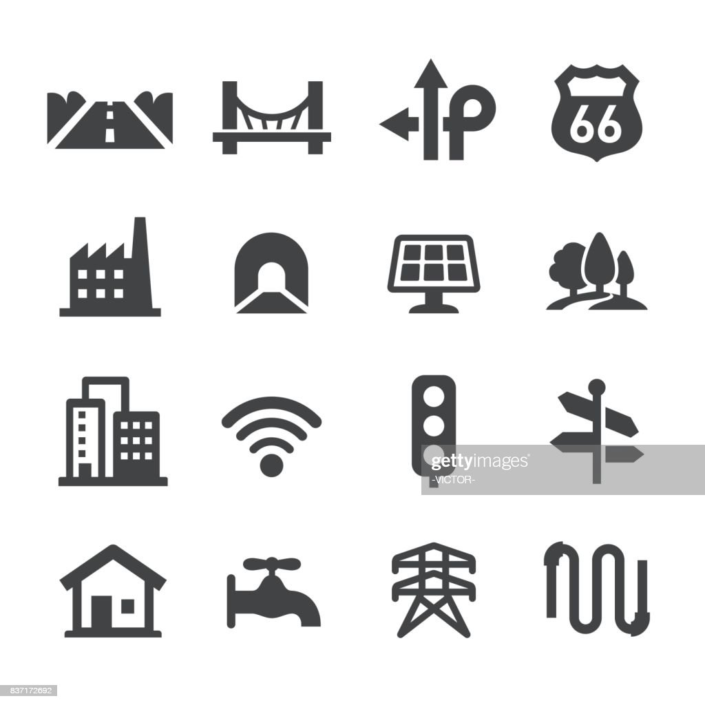 City Construction Icons Set - Acme Series