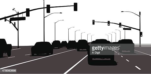 city cruise - stoplight stock illustrations