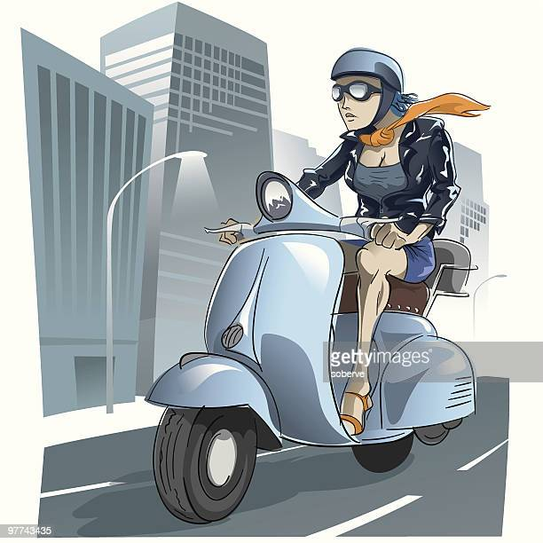 city cruiser - motorcycle jacket stock illustrations, clip art, cartoons, & icons