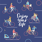 City cyclists poster
