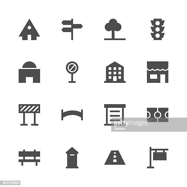 City Element Icon - Gray Series