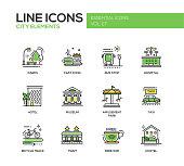 City elements - line design icons set