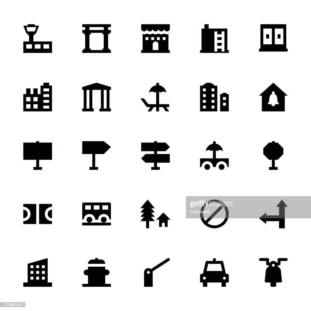 City Elements Vector Icons 8