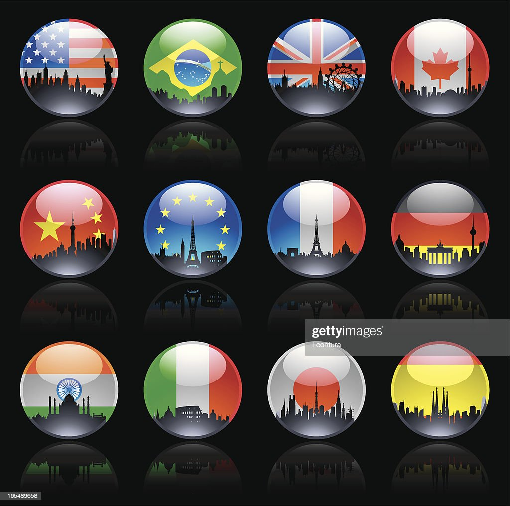 City Flag Marbles