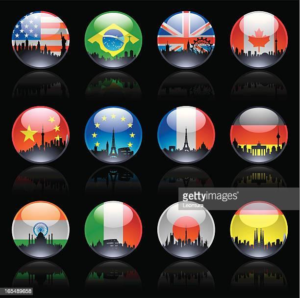 City Flag Marbles