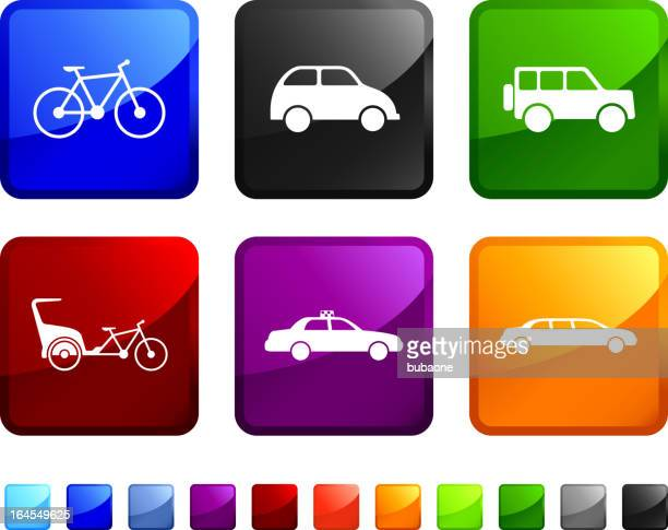 city ground transportation royalty free vector icon set stickers