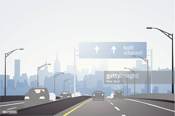 city highway - stadtansicht stock-grafiken, -clipart, -cartoons und -symbole