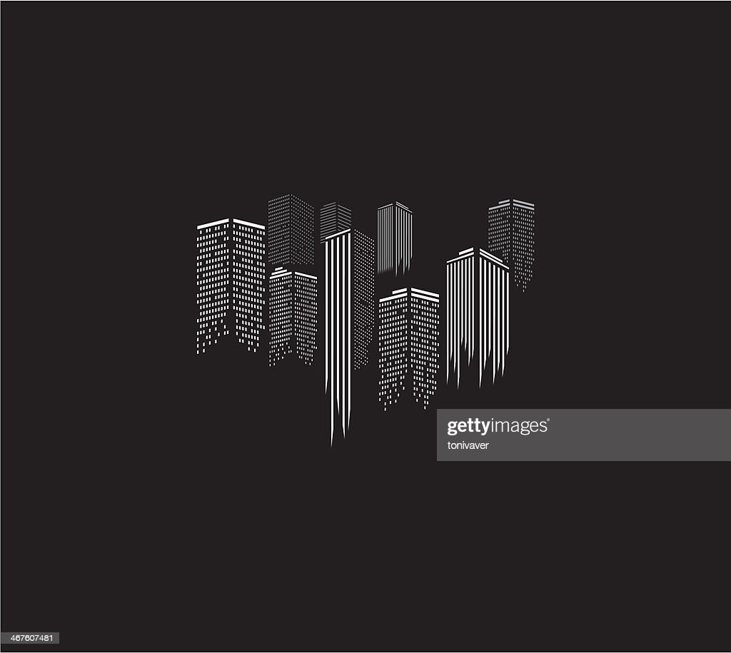city icons illustration