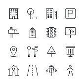 City Icons set 1   Black Line series