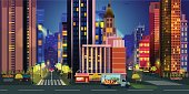 City Illustrations for games, Night  Background