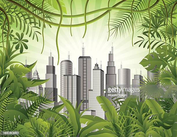 Stadt in den Dschungel
