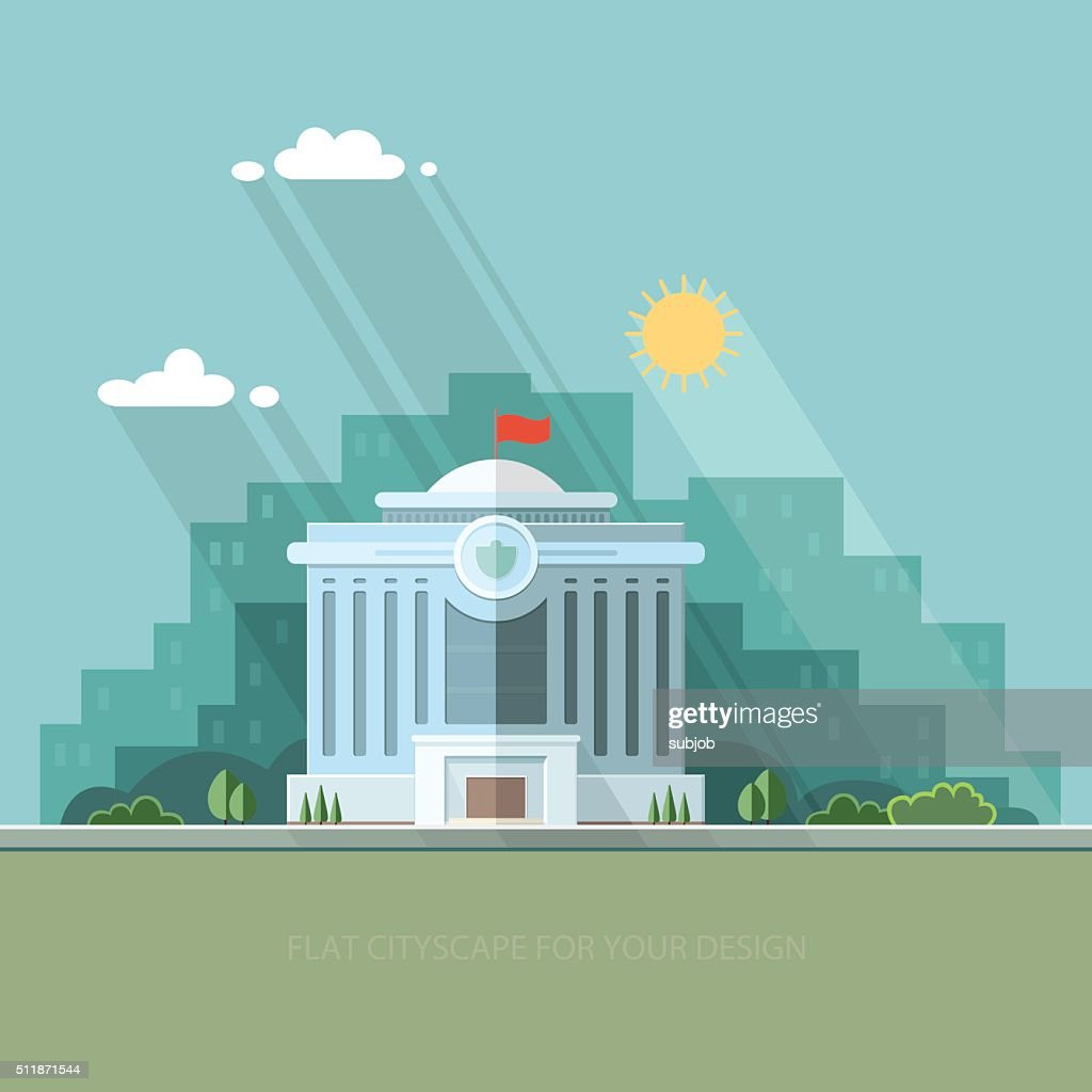 City landscape. municipal building, City Hall, the Government, the court
