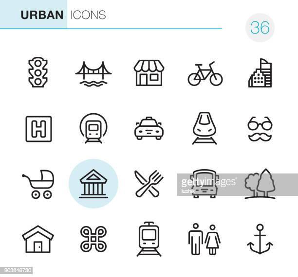 city life - pixel perfect icons - bathroom stock illustrations, clip art, cartoons, & icons