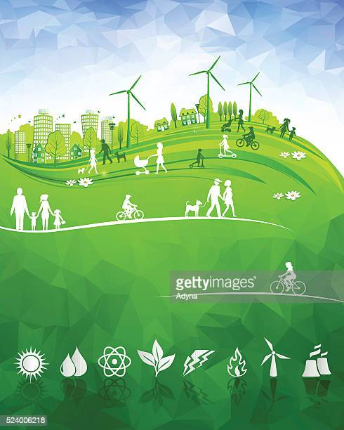 city life - environmental issues stock illustrations