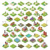 City Map Set 03 Tiles Isometric