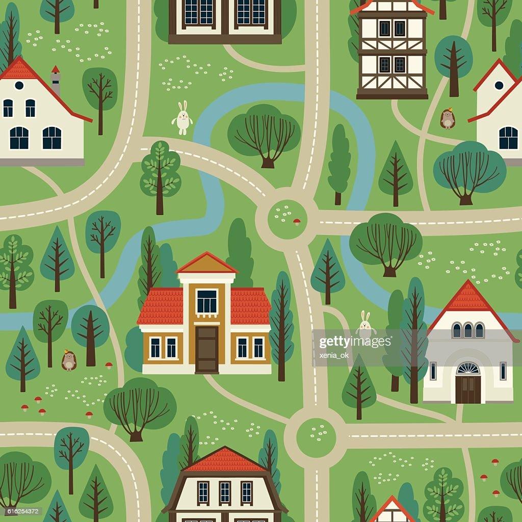 Mapa de la ciudad : Arte vectorial