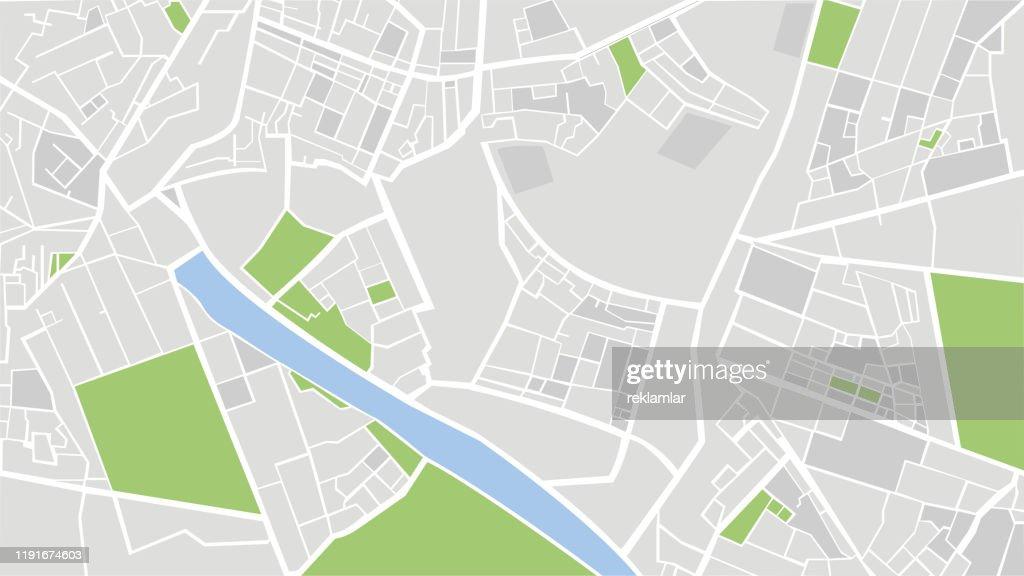 都市マップ ベクターの図。 : ストックイラストレーション