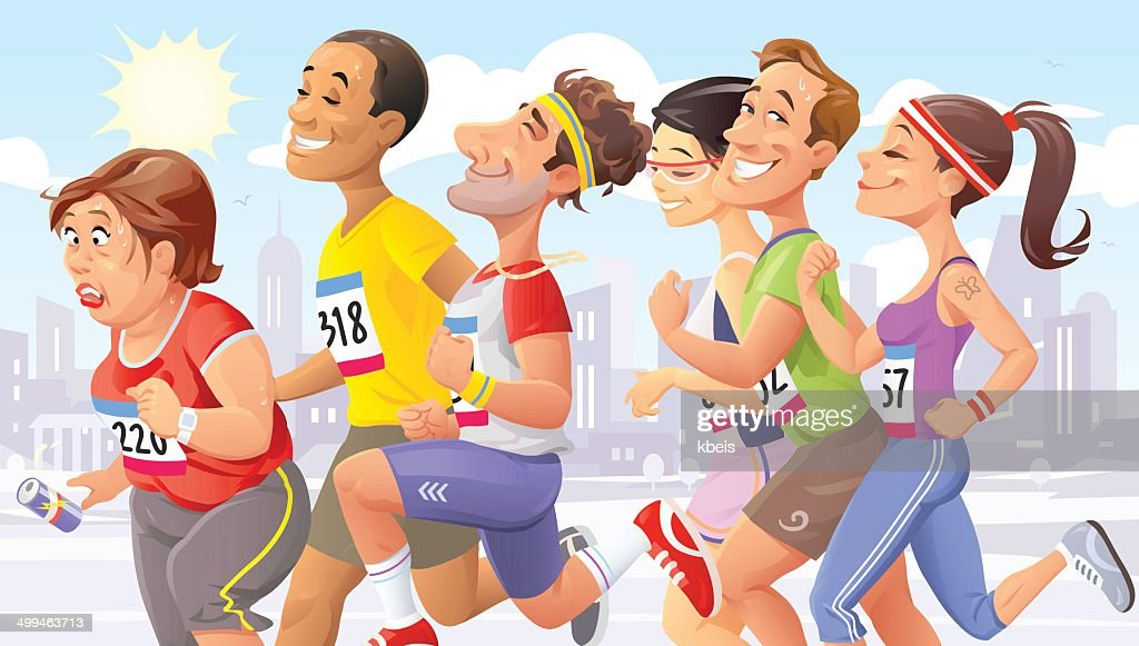 City Marathon : stock illustration