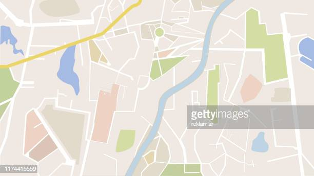 city navigation driving map - human settlement stock illustrations
