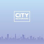 City of skyscrapers horizontal seamless pattern. Architecture urban building, structure