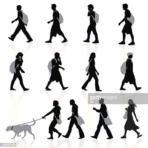 city people - pedestrian stock illustrations, clip art, cartoons, & icons