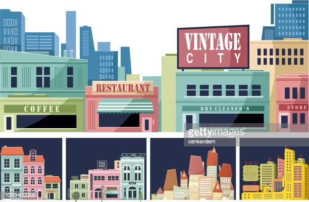 City scene set