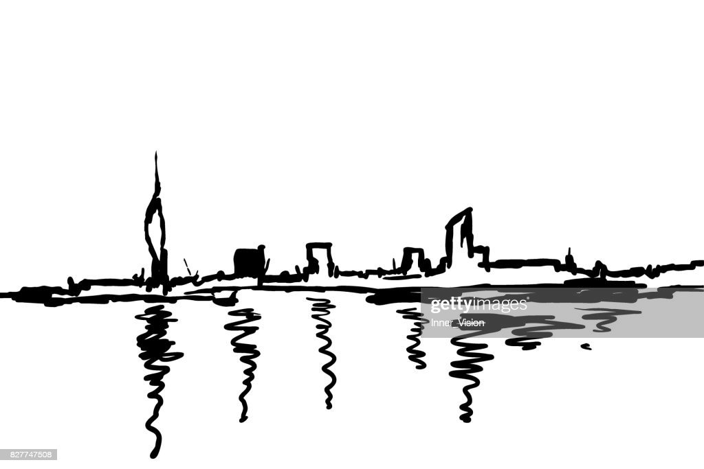 City Skyline - Art Silhouette