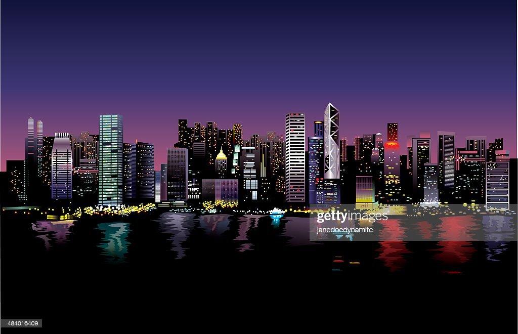 Vector illustration: City life