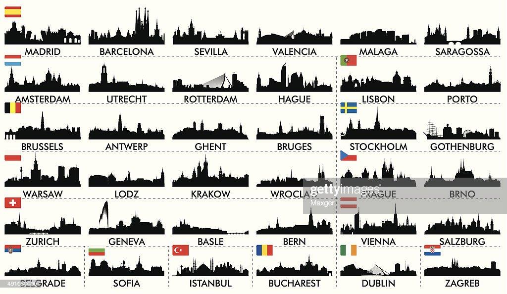 City skyline European countries2