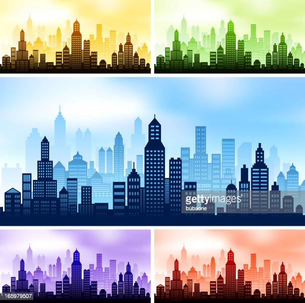 City skyline panoramic Background Collection