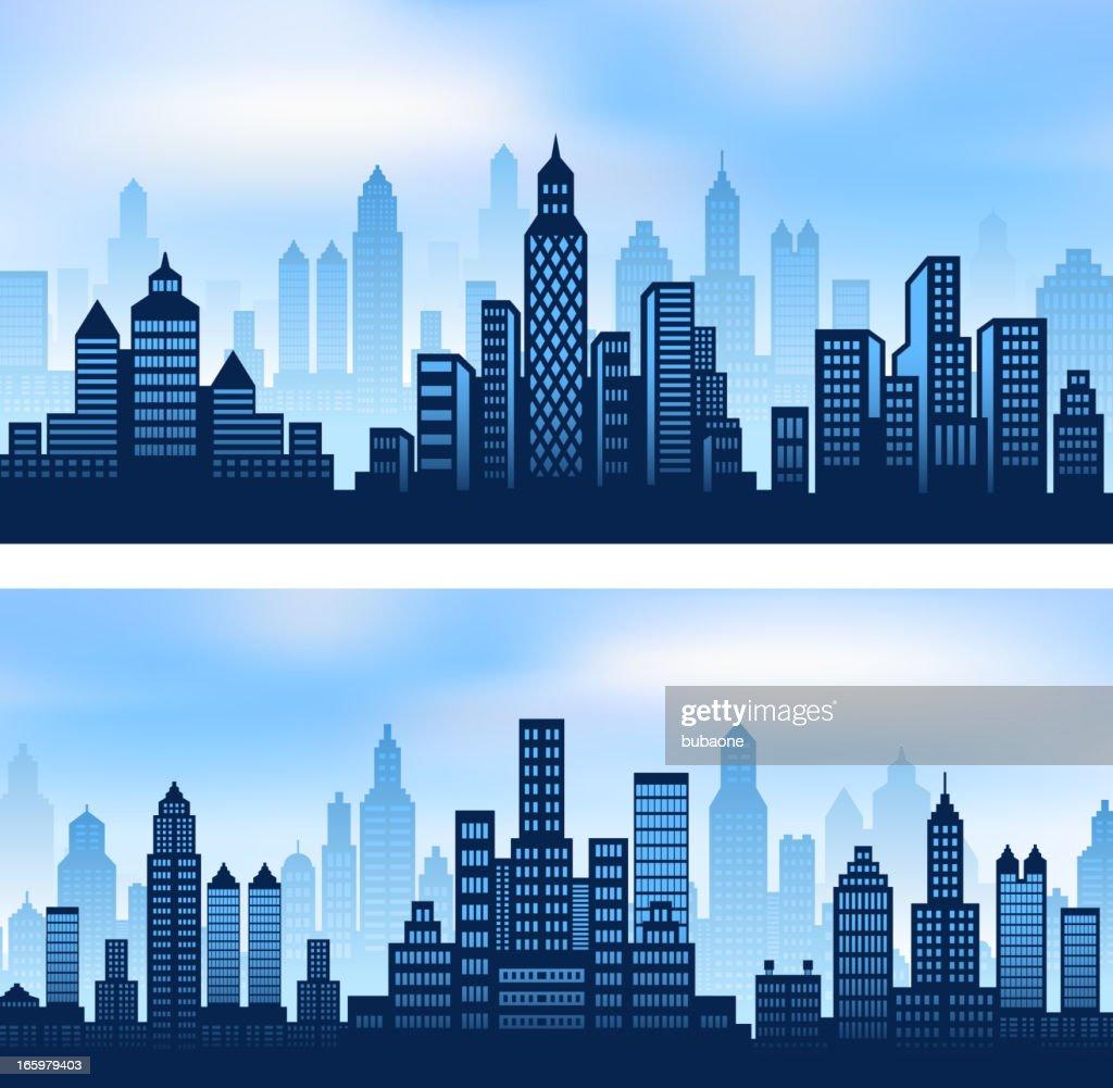 City skyline panoramic background set vector art getty images city skyline panoramic background set vector art voltagebd Choice Image
