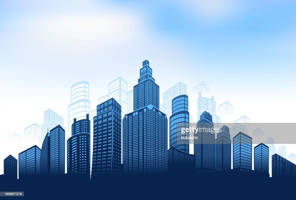 City skyline panoramic background vector art getty images city skyline panoramic background vector art voltagebd Choice Image