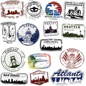 US City Stamps