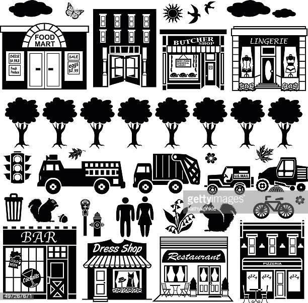 Elementos de diseño de la calle de la ciudad