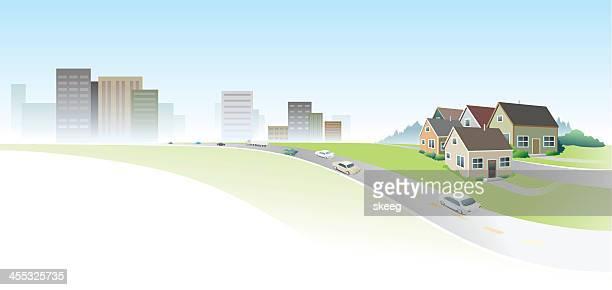 Cidade suburbano Banner