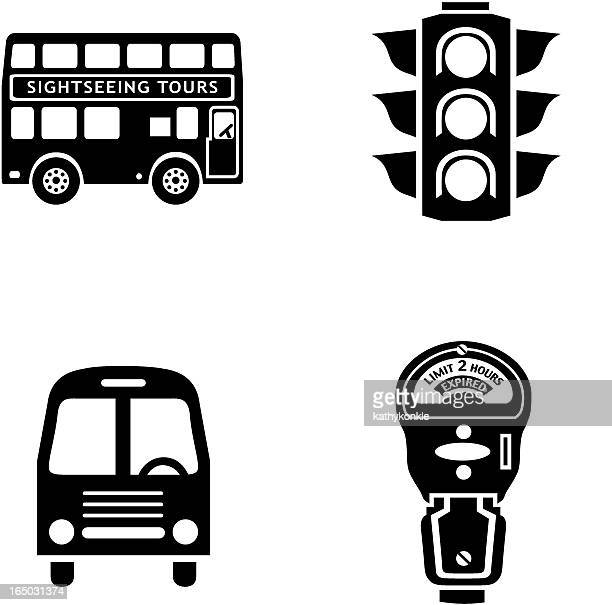city traffic 01a - parking meter stock illustrations