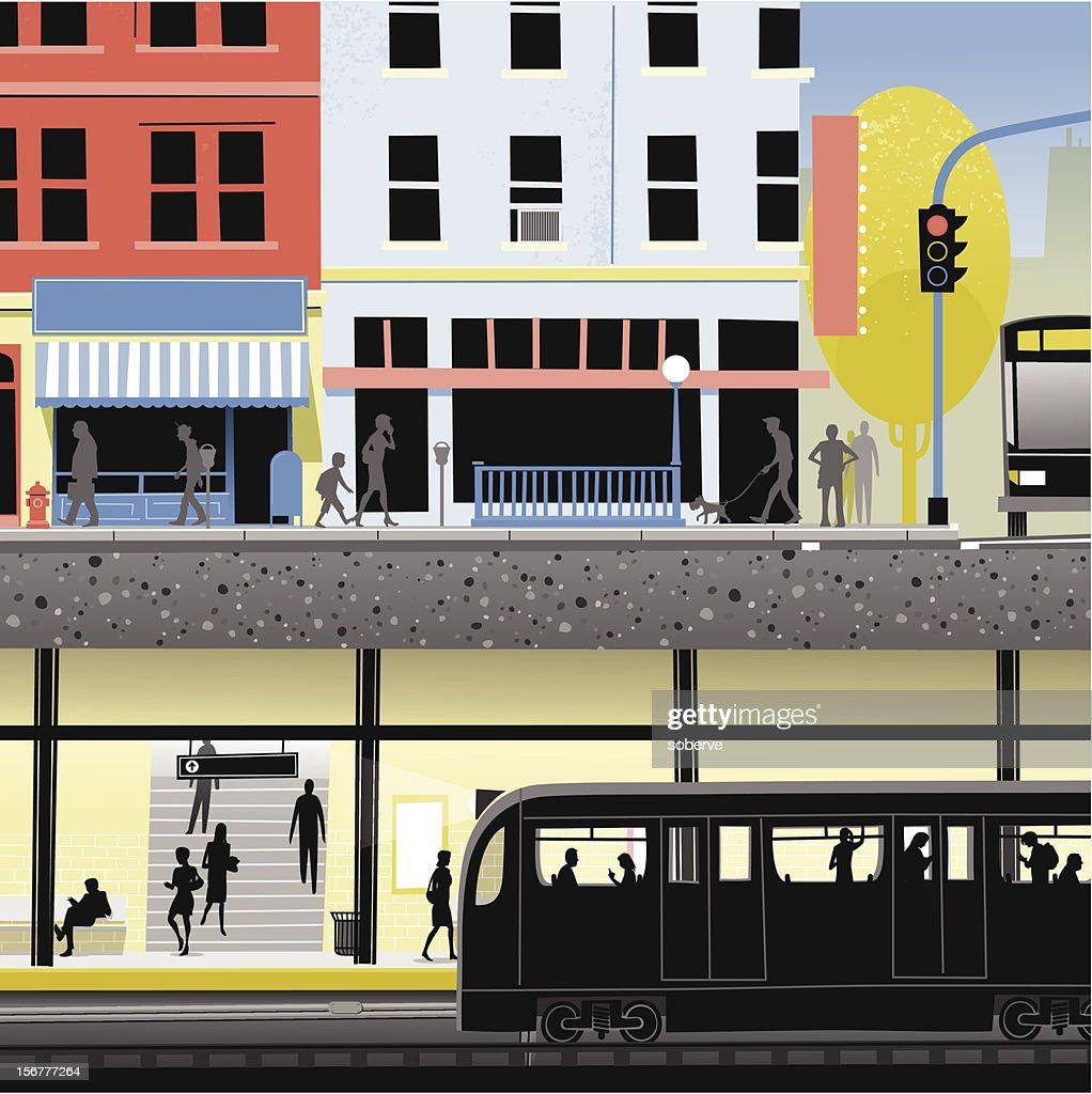 City Underground : stock illustration