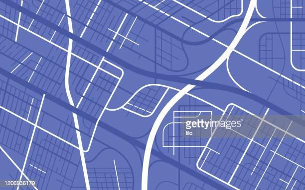 都市都市道路の抽象的な地図 - 境界線点のイラスト素材/クリップアート素材/マンガ素材/アイコン素材