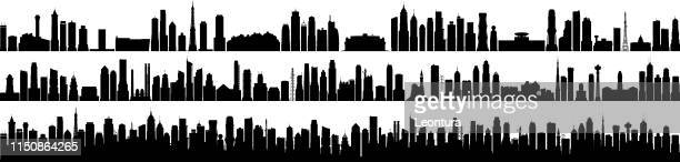 city (all buildings are complete and moveable) - generic description stock illustrations