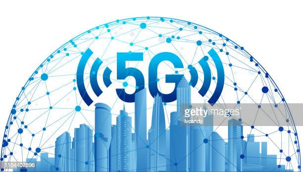 5g city - parallel stock illustrations, clip art, cartoons, & icons